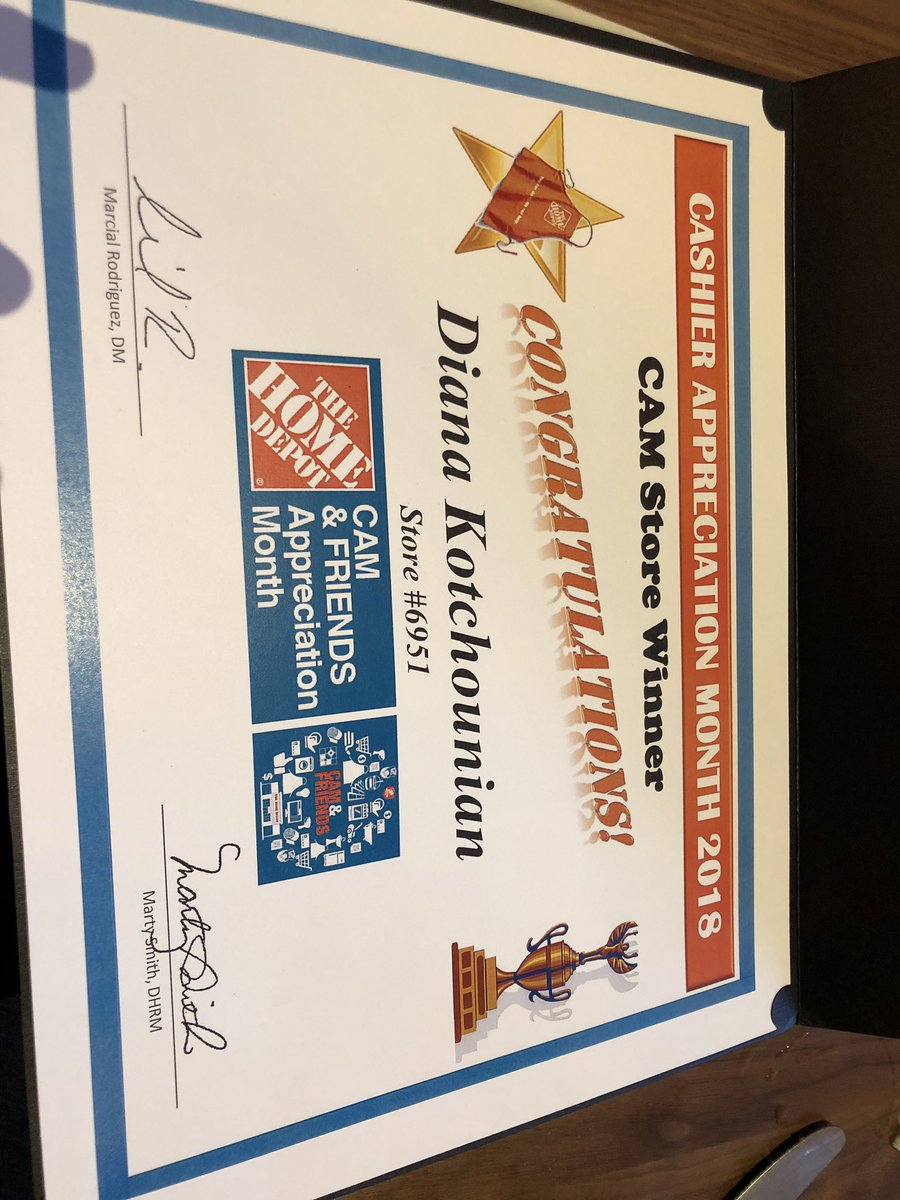 Home Depot Cashier Appreciation Certificates Wwwtopsimagescom