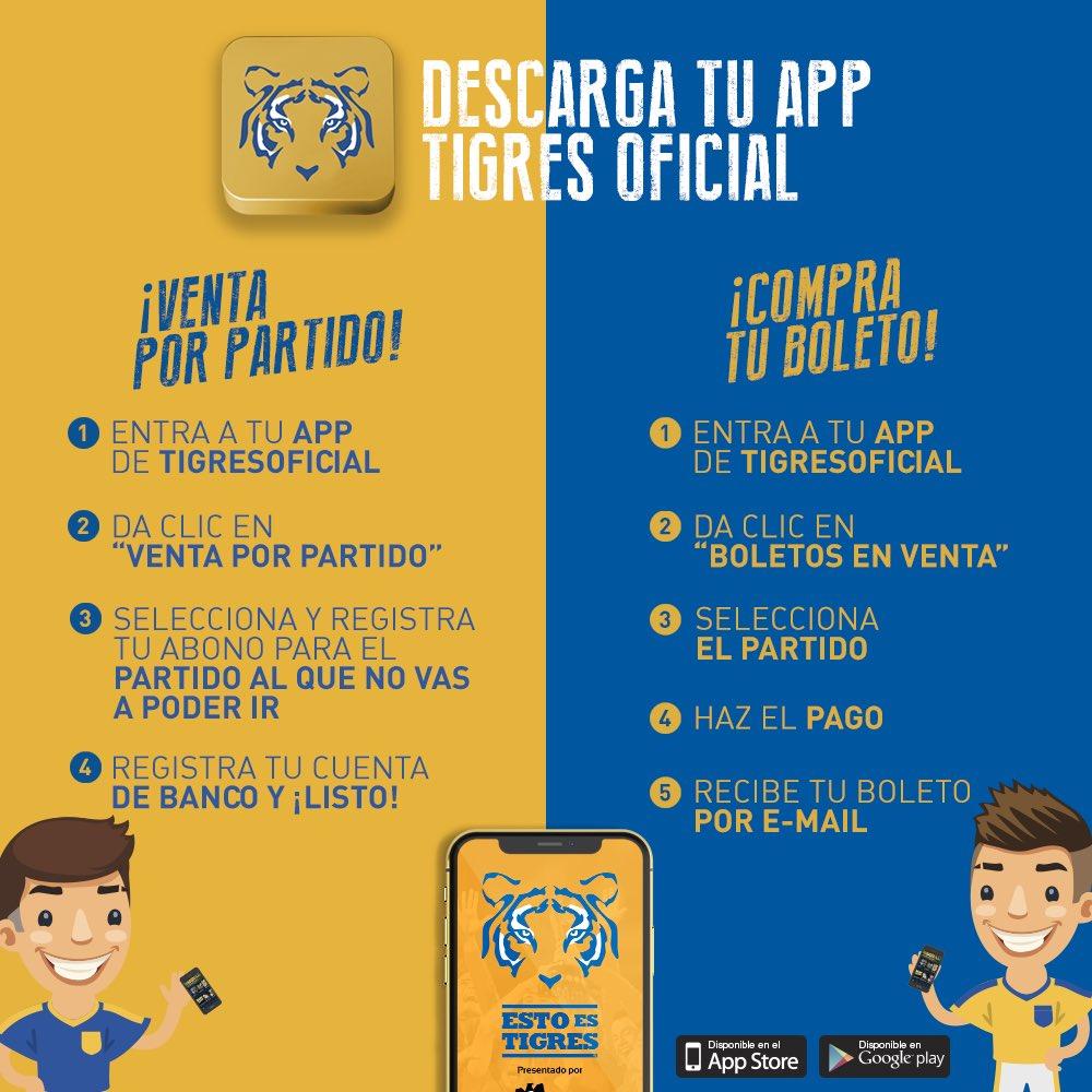 Club Tigres Oficial On Twitter No Podrás Acudir Al Partido Entre