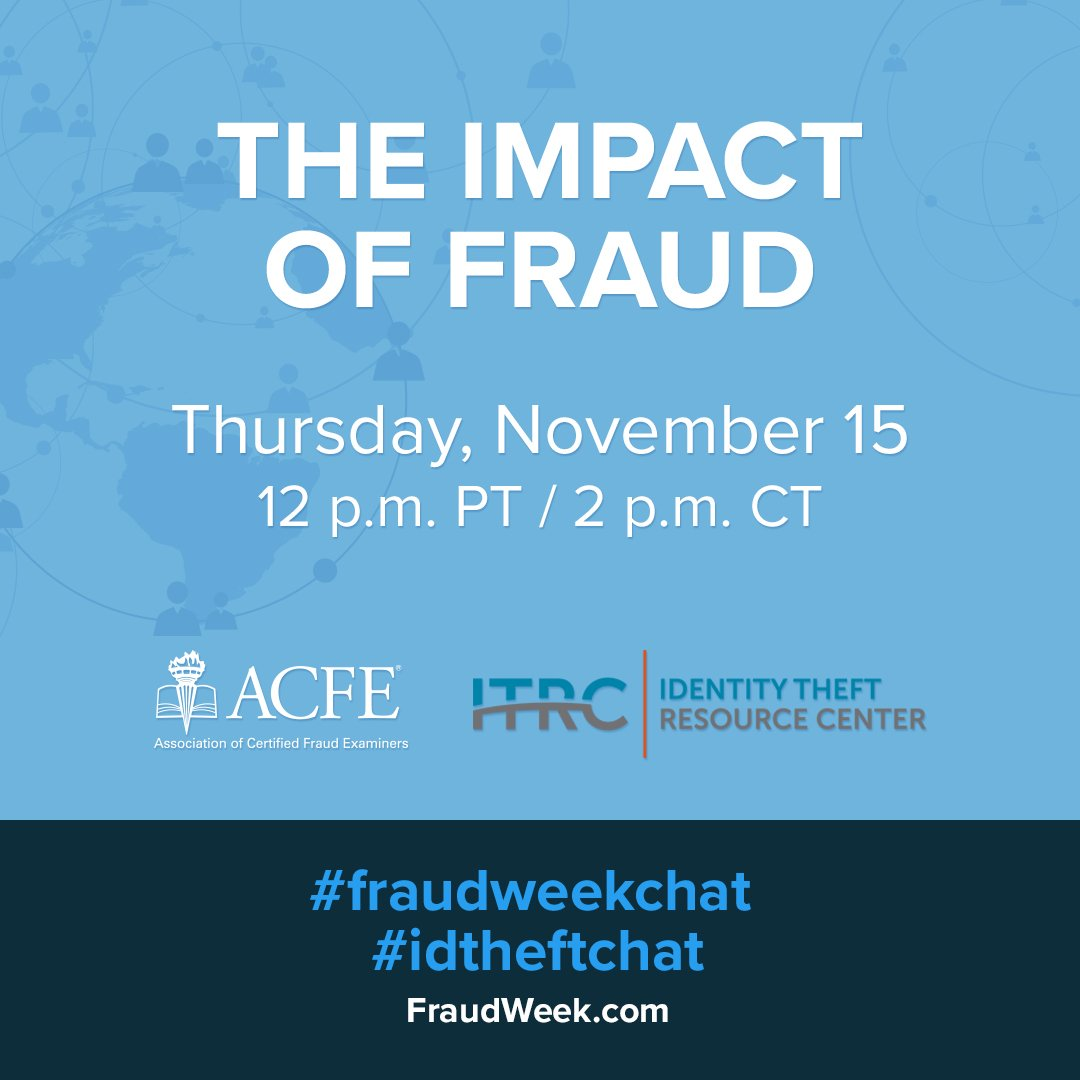 Join us as we share tips to avoid fraud tomorrow at noon during the #FraudWeekChat!