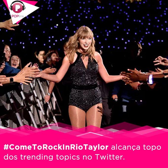 #ComeToRockInRioTaylor @taylorswift13 nunca trouxe uma turnê ao Brasil, e fãs fazem pressão para que ela feche com @rockinrio para line-up de 2019. Leia: Photo