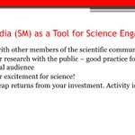 I gave a talk to a #gradstudent class @GeorgiaTech on role of #socialmedia in #SciComm this morning (thanks @drdavidhu 4 invite!). Here are some slides I used leading up to our small group activity. Anyone in #sciencetwitter have other ideas/tips to share w/ young scientists?