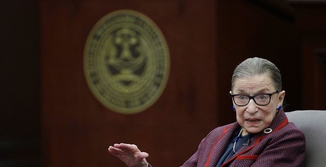 Ruth Bader Ginsburg hospitalized with broken ribs - Photo