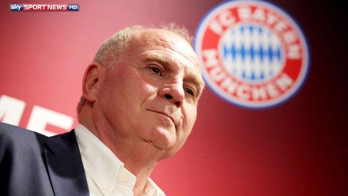 BUNDESLIGA FC Bayern: Hoeneß kündigt Rückzug an: #SkyBuli Foto