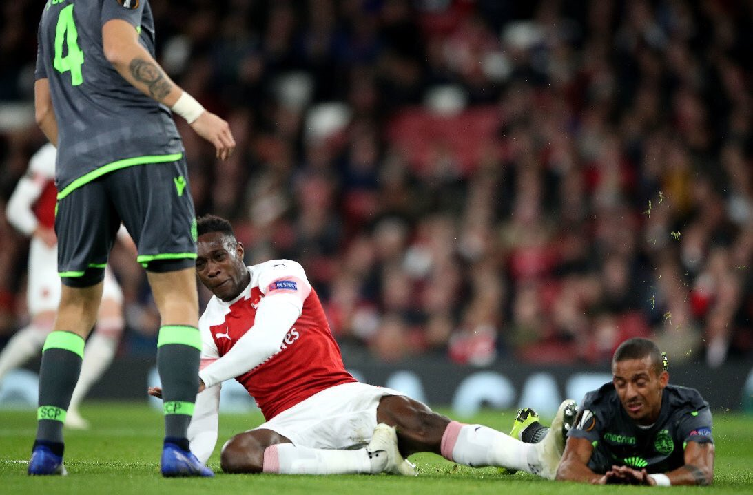 Danny Welbeck stretchered off with serious-looking injury