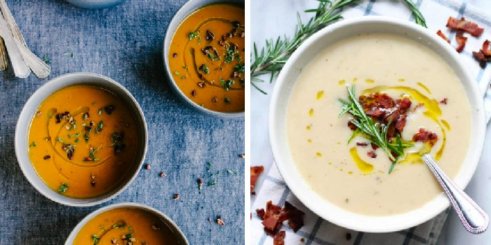 15 Comforting, Meatless Soups That'll Warm You Right Up This Fall https://t.co/BKigzsuf79 #yummy #foodie #delicious https://t.co/OQOlJBFthg