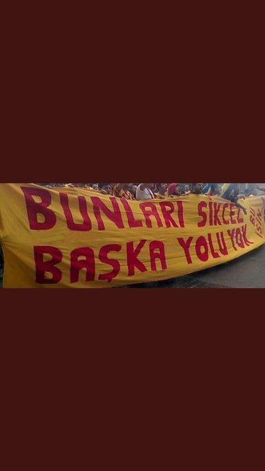 Eğer küfür etmek serbestse; Galatasaray düşmanlarının anasını sikeceğiz #YandaşTFFistifa Photo
