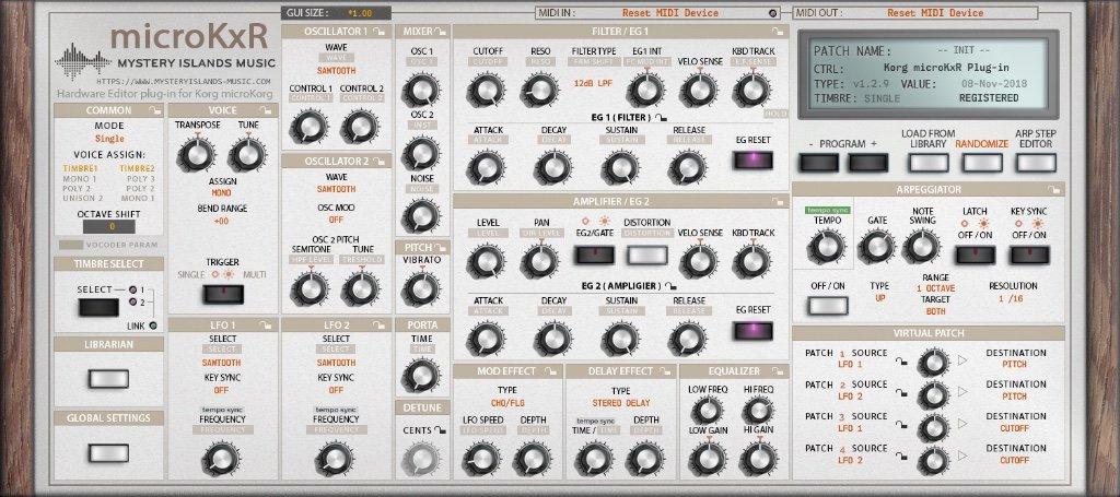 Microkorg editor software
