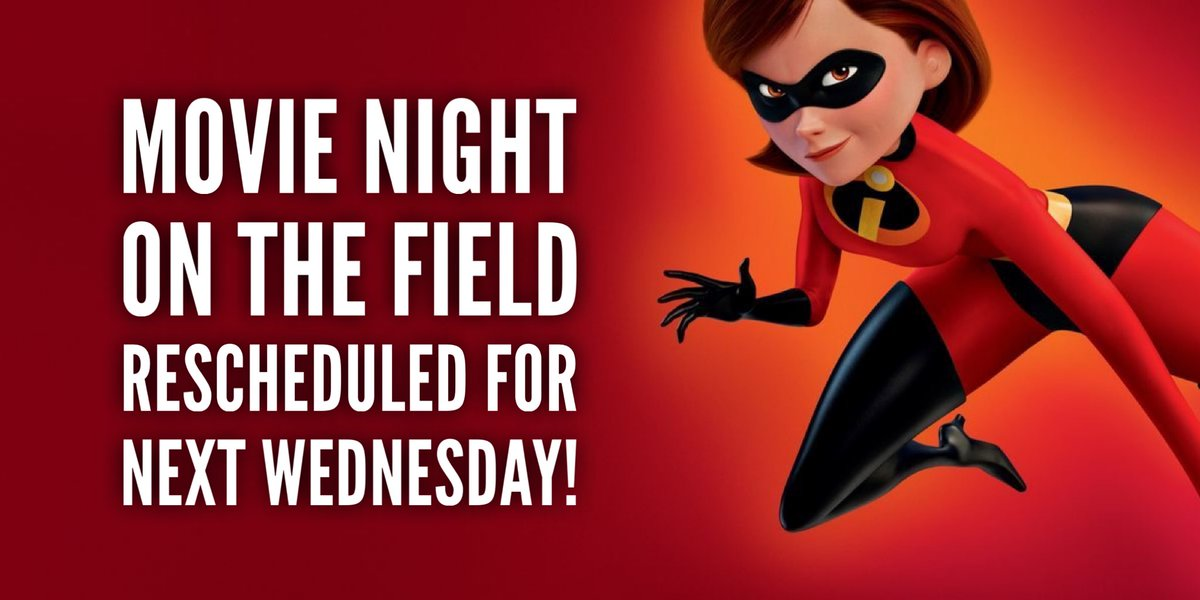 🎟Movie Night 🎥🌙 on the field is rescheduled for next Wednesday!!! 🍿🍫☕️❄️