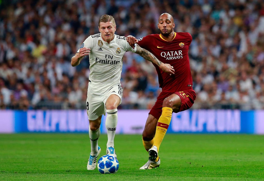 ANSWER 5️⃣ players that appeared in each of the following two @ChampionsLeague matches were also part of the last 4️⃣ #WorldCup winning sides 🇪🇸@realmadriden 3-0 @ASRomaEN🇮🇹, #UCL Matchday 1 (19 September) 🇮🇹@en_sscnapoli 1-1 @PSG_English🇫🇷, #UCL Matchday 4 (6 November)