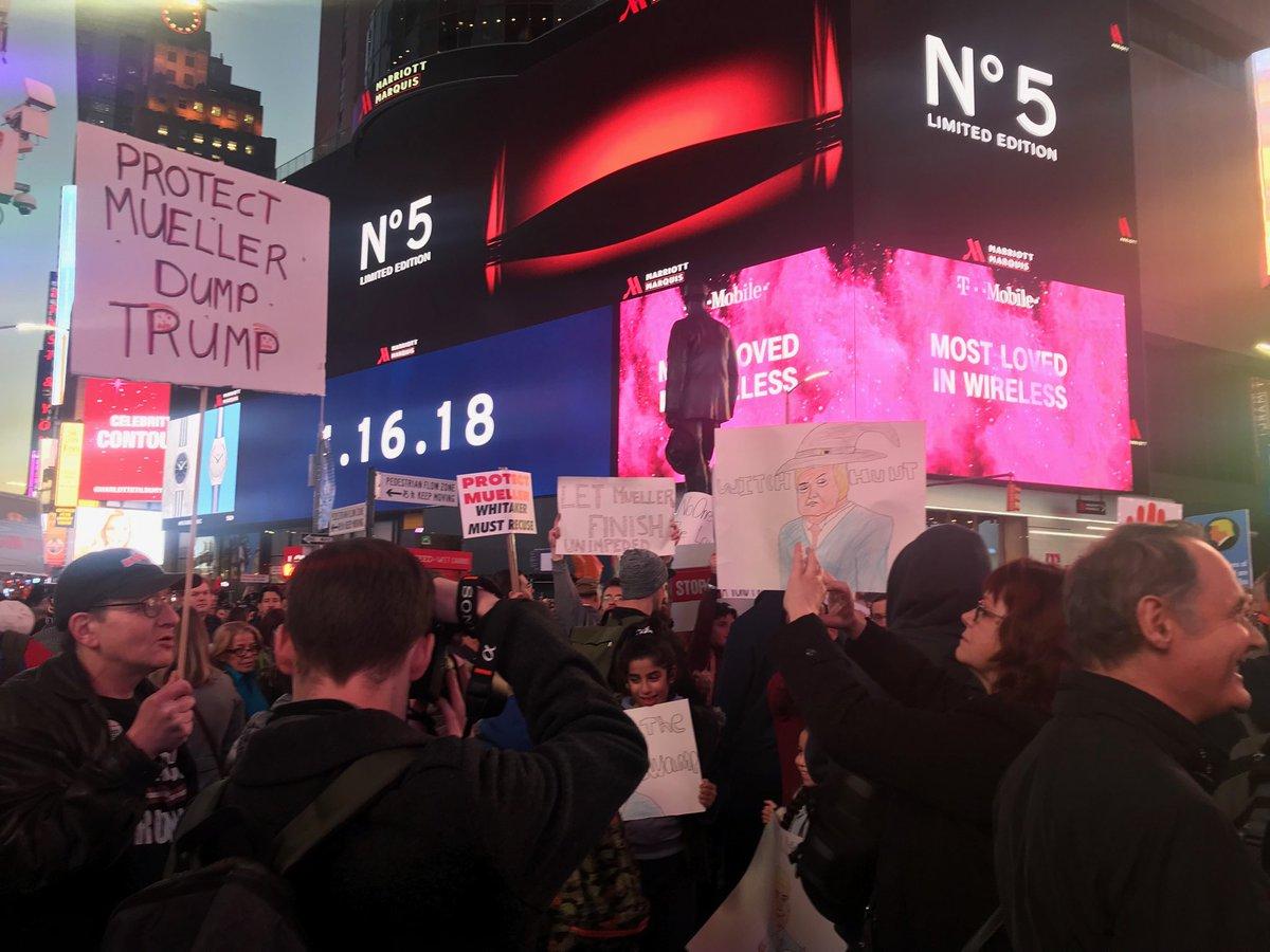 Times Square protest kicks off.