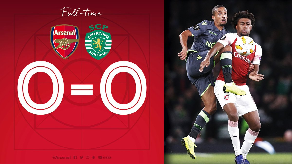 Arsenal 0 Sporting 0