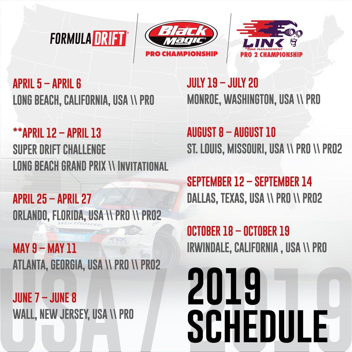 Formula Drift 2019 Schedule Formula Drift on Twitter:
