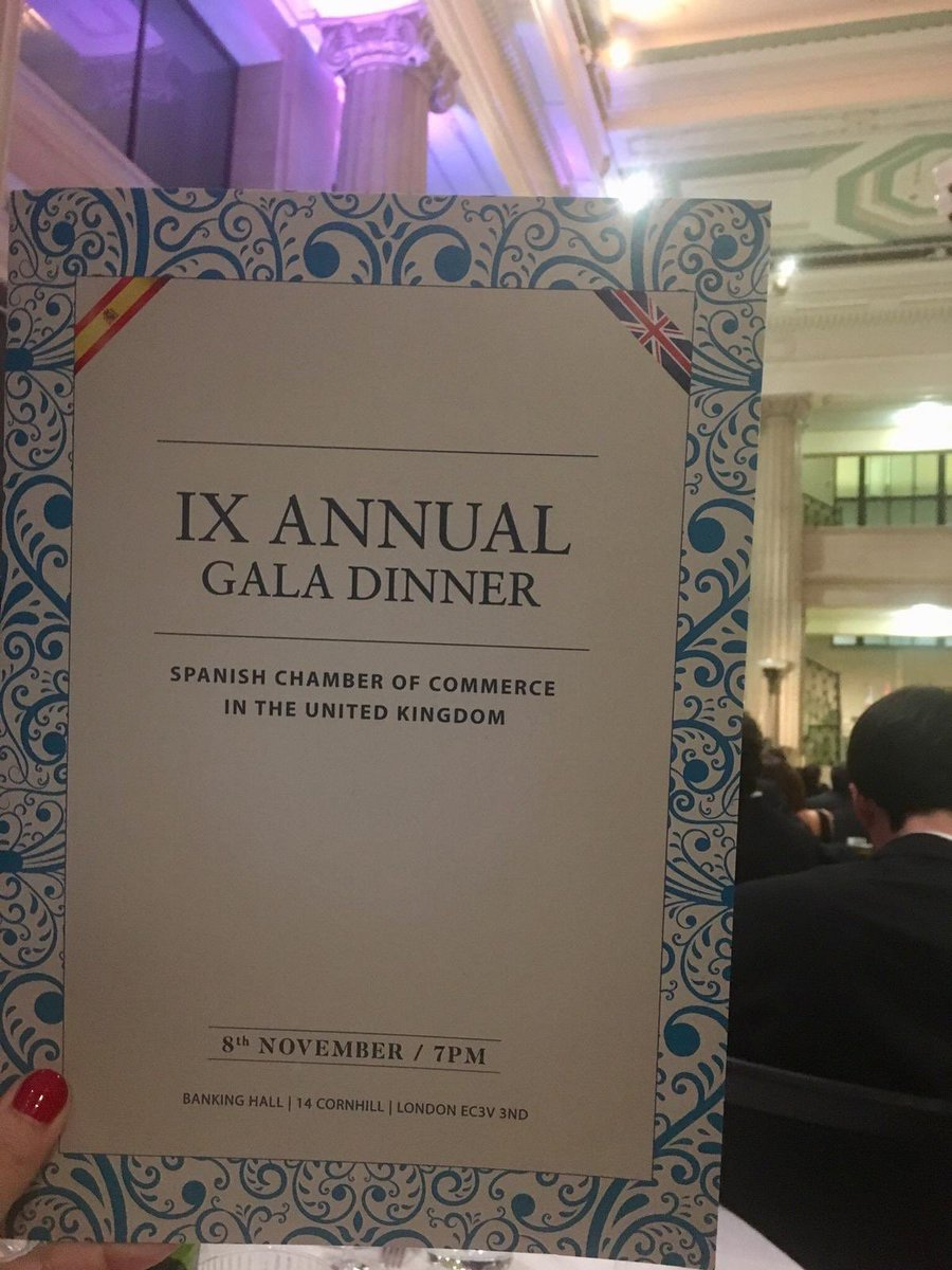 @RyAlondon @ryapress benefactors of the Spanish Chamber of Commerce in the United Kingdom attending the IX Gala Dinner. One of the key annual events of the institution that represents Spanish companies in the UK.