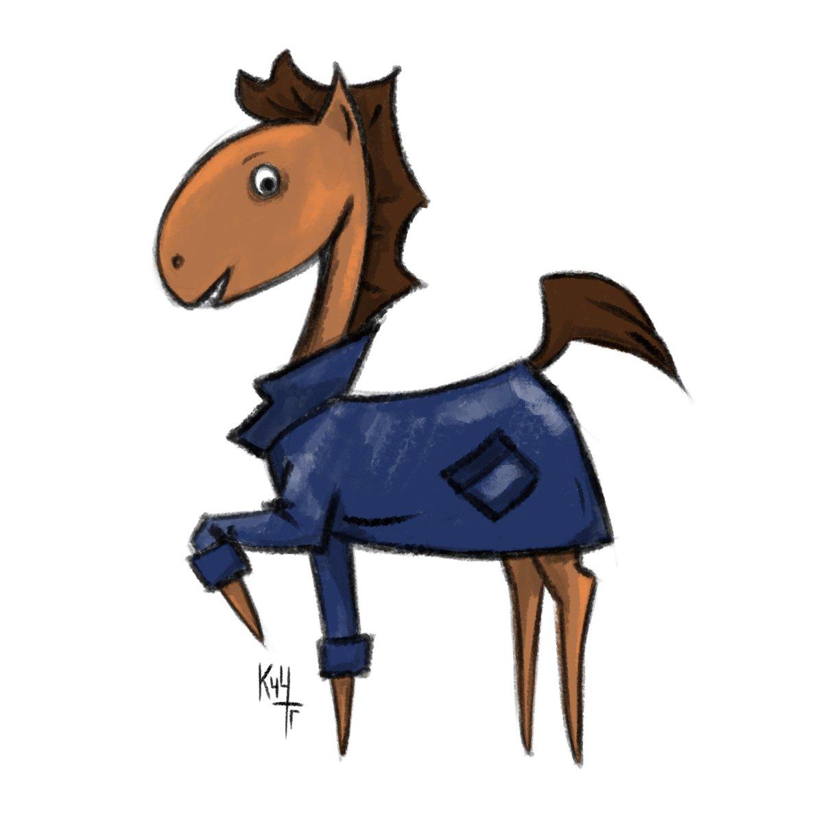 лошадь в пальто картинка парк