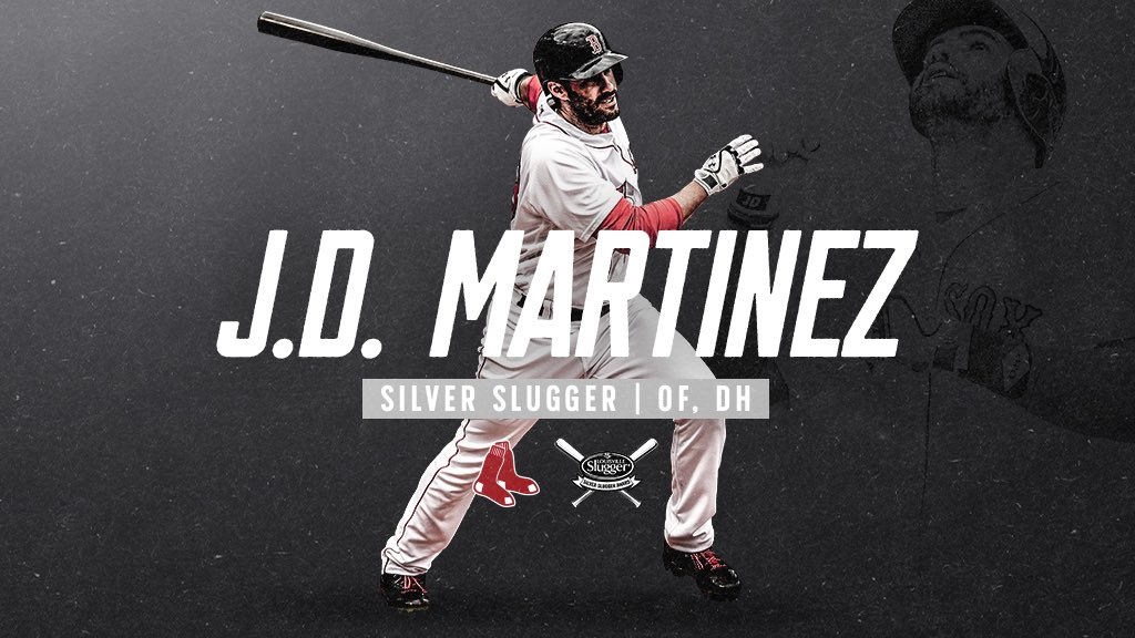 J.D. out here making history! ��  He's the first player to ever win 2 #SilverSlugger Awards in the same season! https://t.co/ttzB4QqZqT