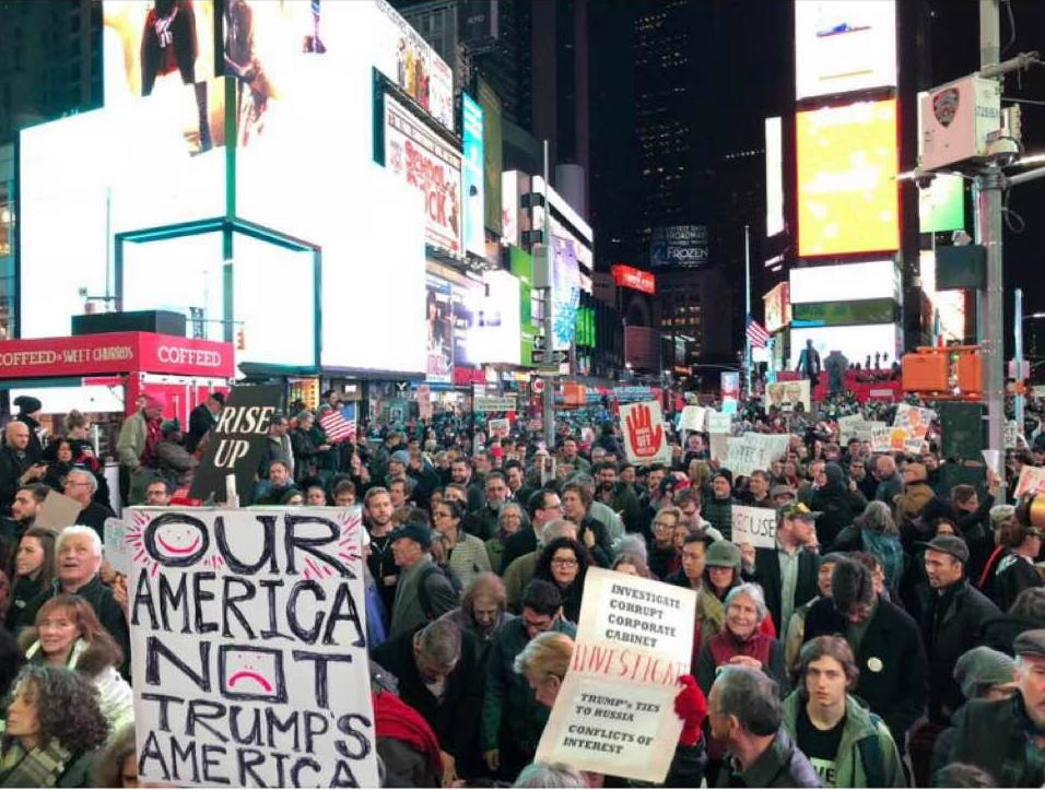 Not New Year's Eve -- #ProtectMueller in Times Square.