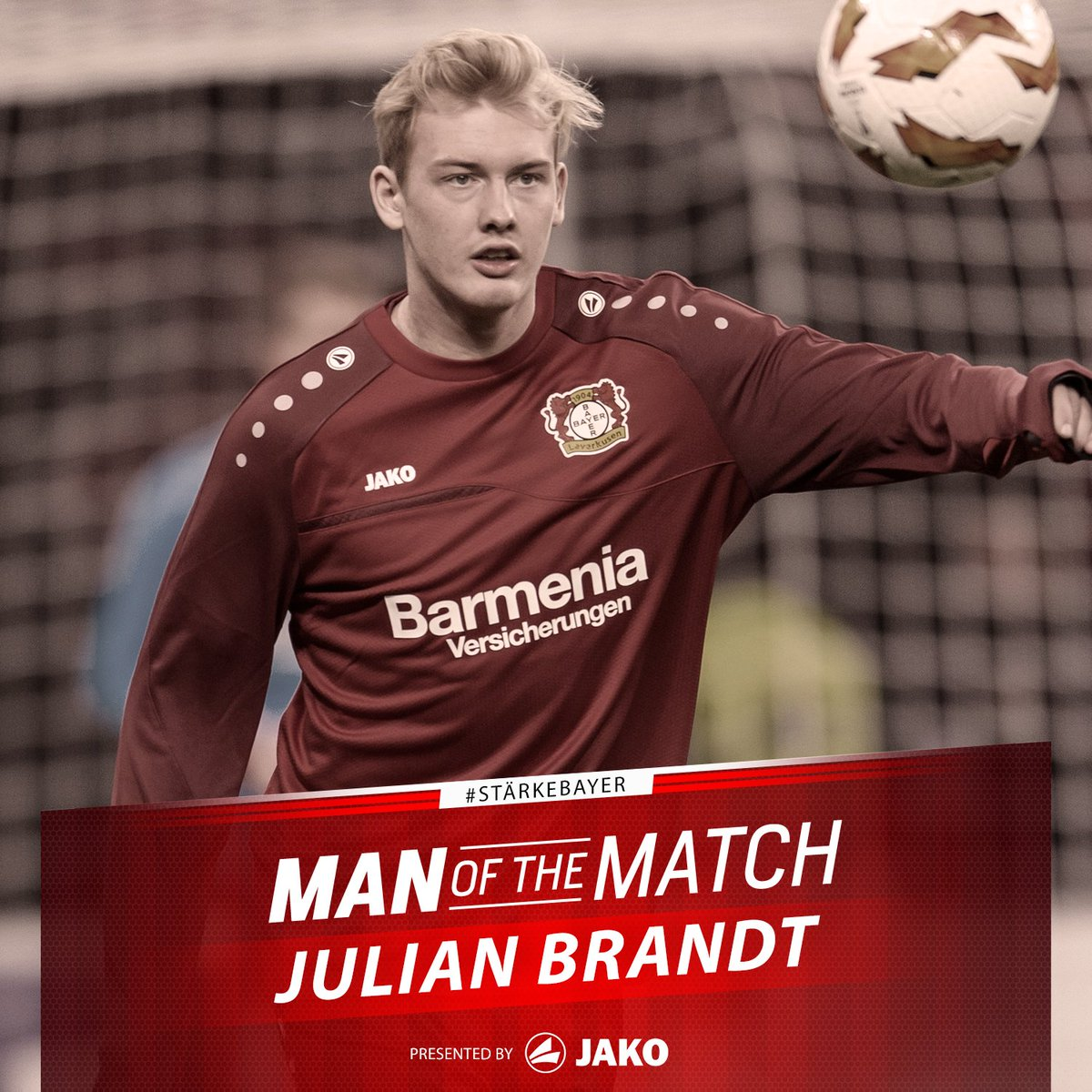 RT @bayer04_en: You've selected Julian Brandt as your Man of the Match for #B04FCZ! https://t.co/HNvBabB314
