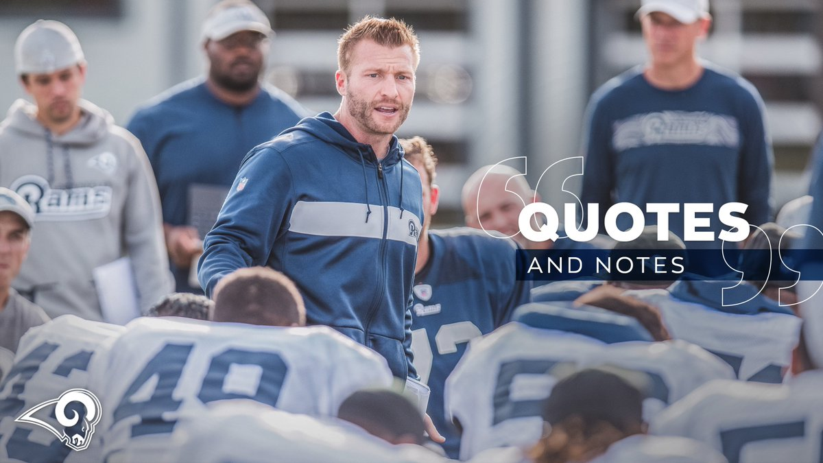 #LARams Vow to Support Thousand Oaks Community in Wake of Tragedy Quotes + Notes: 📝 » gora.ms/CwbpEK