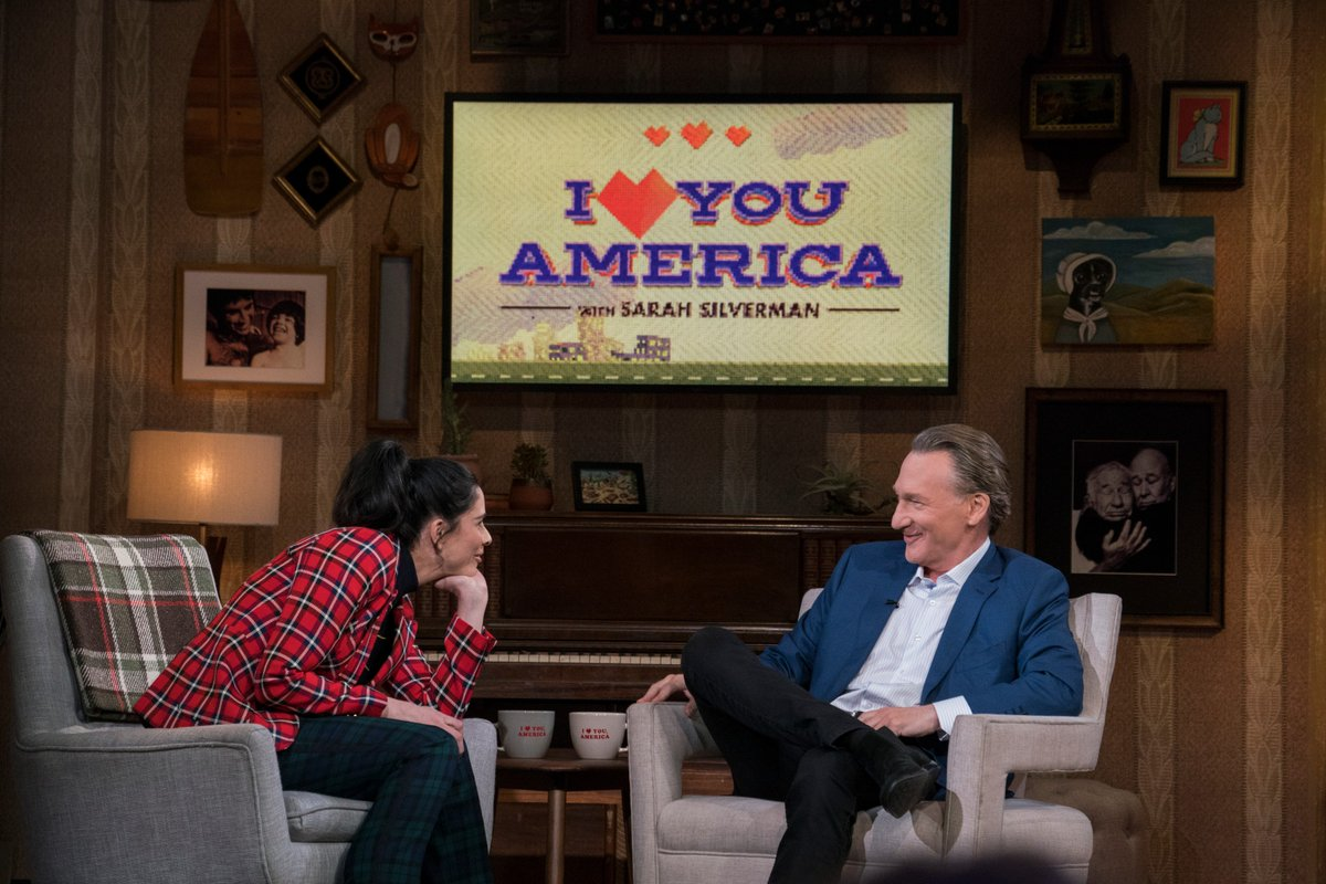 .@ILYAmerica with the wonderful @SarahKSilverman. #Midterms2018 results, #GusTheMule &amp; more. Full episode is streaming now on Hulu:  http:// hulu.tv/WatchILYA  &nbsp;  <br>http://pic.twitter.com/KaT4VrkI6T