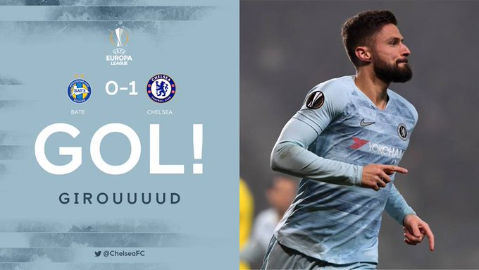 Giroud quebra jejum de gols e garante Chelsea nas oitavas da Liga Europa Photo