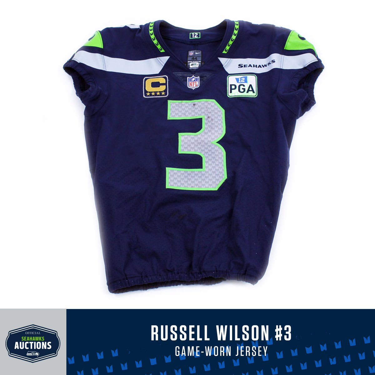 2a82d95bb Jerseys include official patch honoring team owner  PaulGAllen. 100% of  proceeds will be donated to Seahawks Charitable Foundation.