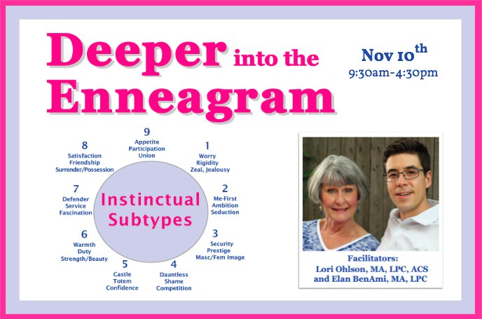 2 more spaces left in our #Enneagram #Subtypes course this Saturday @PeopleHouseCO  more info: https://t.co/a2U5Azo1FR #Denver #psychology #personality @EnneaApp https://t.co/ClWe6745PY