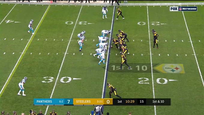 Ben has thrown only one pass This 75-yard touchdown to @TeamJuJu. 🔥 Foto