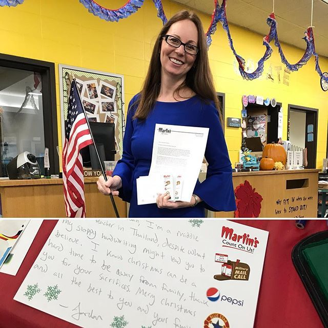 It's been a Red, White, and Blue week with Patriot Night @ Maker Club, Voting 2018, Veteran's Day Program @ LMS, and delivering Christmas Cards for Troops to Martin's #grateful http://bit.ly/2DuHjAI