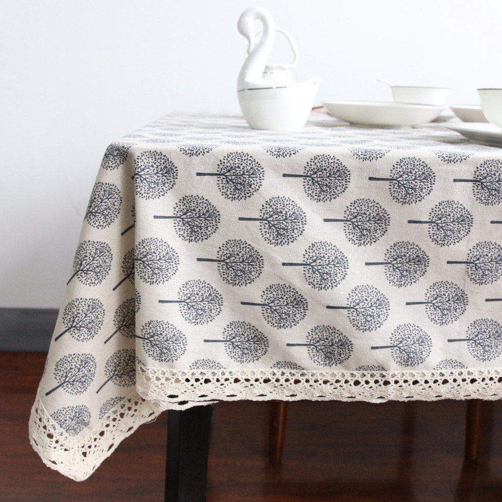 #recipes #household Natural Linen Table Cloth with Small Trees Print https://t.co/eDBrVpHvvh