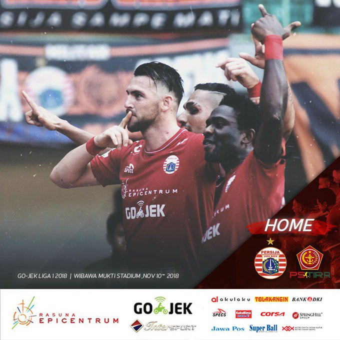 Next Match: Persija Jakarta vs PS TIRA Stadion Wibawa Mukti Sabtu, 10 November 2018 Kick Off: WIB Live on Indosiar Come on you, Tiger!✊🔥 __ #PersijaJakarta #PersijaSelamanya Photo