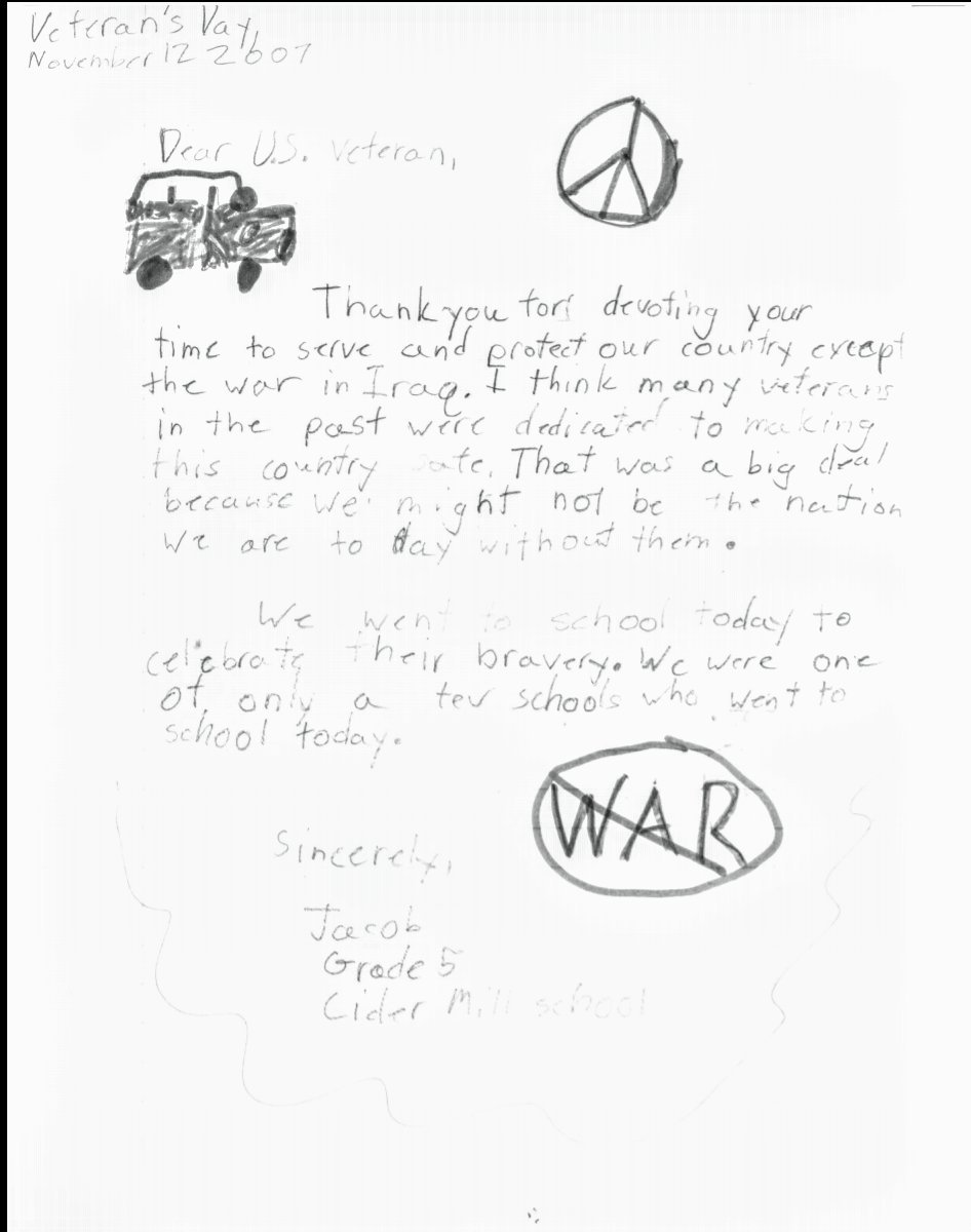 lady a on twitter i hope to god this teacher actually sent this Past and Present Tense was a dig at present soldiers and how annoyed he was at having to e to school on veterans day and write letters which is fair because that s