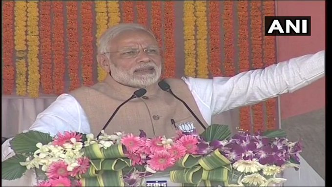Urban Maoists live in AC surroundings, move around in big cars and their children study abroad, but they ruin the lives of our poor Adivasi youth here through remote control. Why is Congress supporting these Urban Maoists?: PM Modi #ChhattisgarhElections2018 Photo