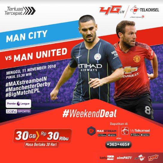 Penasaran dengan duel antara lkay Gündoğan dan Juan Mata untuk meraih kemenangan di Manchester Derby? Saksikan keseruannya dengan mengaktifkan paket #WeekendDeal dan dapatkan tambahan kuota 30 GB hanya selama seminggu di Photo
