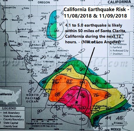 to earthquake is likely within 50 miles of Santa Clarita, California during the next 12 hours. - (NW of Los Angeles) - … Photo