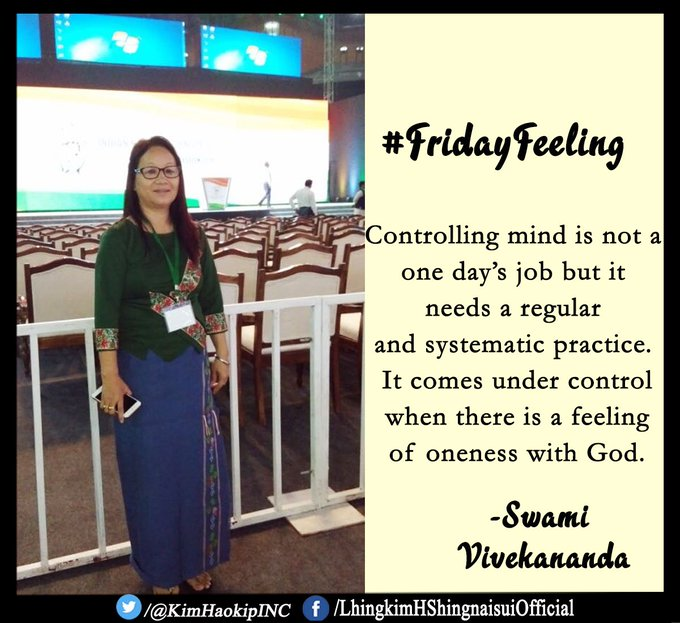 Controlling mind is not a one day's job but it needs a regular and systematic practice. It comes under control when there is a feeling of oneness with God. -Swami Vivekananda #FridayFeeling Photo