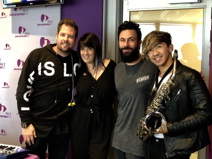 WATCH: They make live electronic music from their hearts to your ears on @JacaBreakfast. See @Goodlucklive at #PrimeFest tomorrow #JacaBreakfast Photo