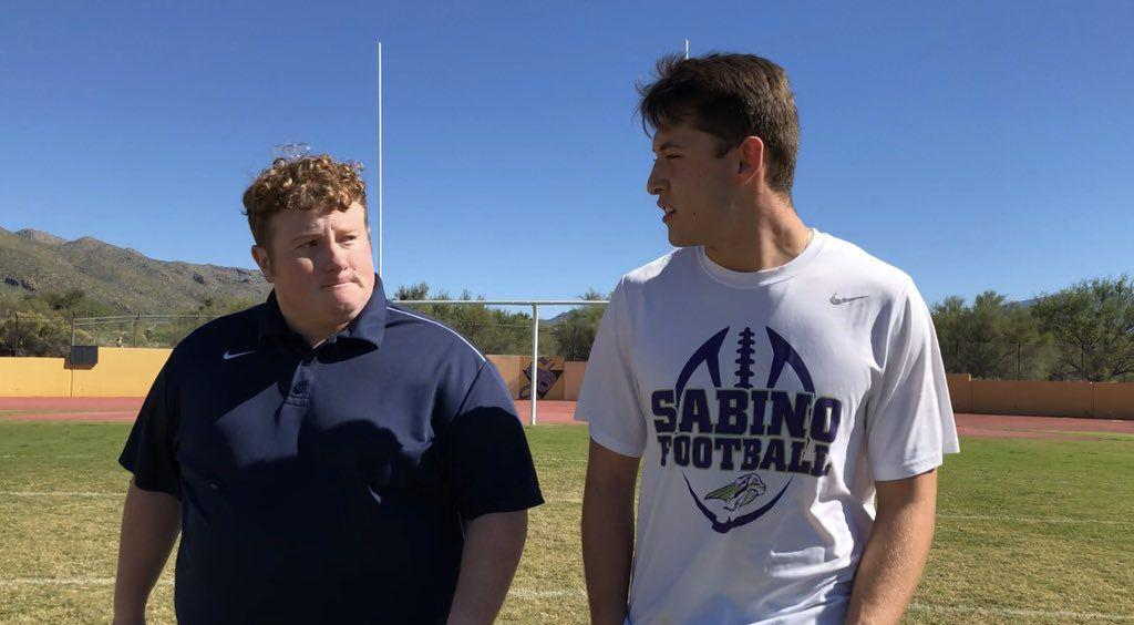 Watch: Walk-and-talk with Sabino's stud LB Richie Piña https://t.co/HUpAztEAWG