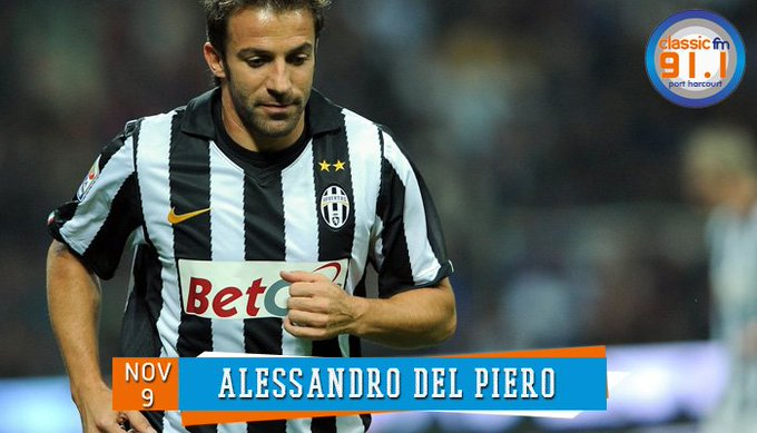 Happy birthday to former Italy football international and Juventus striker, Alessandro Del Piero.