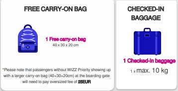 Wizz Air On Twitter Dear Jenny All Of Our Passengers Have A Carry On Bag 40x30x20 Free Of Charge If You Purchase Wizz Priority You Will Be Allowed An Additional Trolley 55x40x23 Https T Co 9niipsl8ti