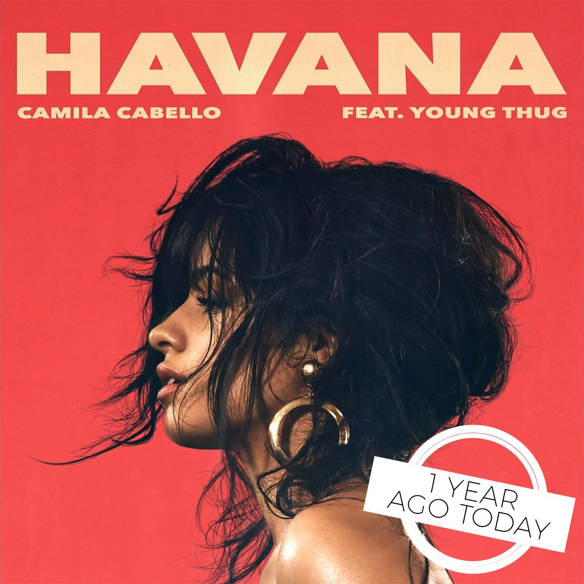 Havana, ooh na-na... is still in our head 1️⃣ year on and were not mad about it. Well never stop singing along to @Camila_Cabello! 💕🌴