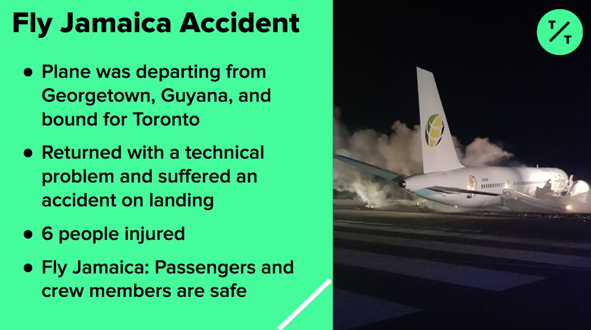 JUST IN: Fly Jamaica jet suffers an accident on landing at Guyana Airport  Here's what we know so far: