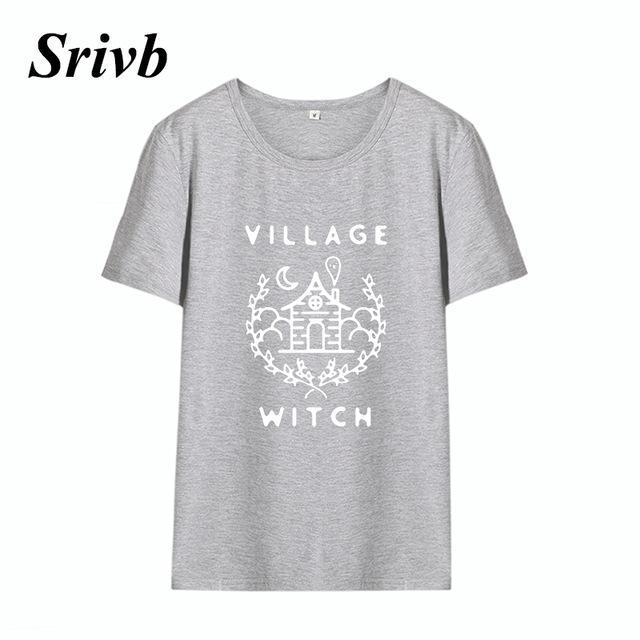 aca00ef51cd1 Srivb Village Witch The New Cotton Graphic Tee Women Harajuku 2018 Summer  Hip Hop Cartoon Tshirt Women Tumblr Funny Women Tshirt  shirt  tshirts   20.76 ...