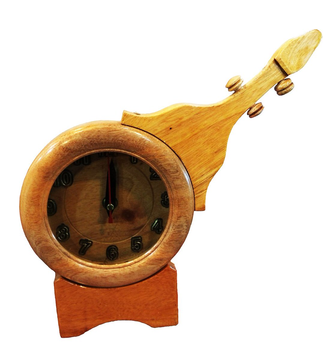 Dhakai Mart On Twitter A Wooden Guitar Clock Made In Bangladesh