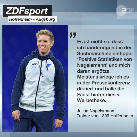 Julian #Nagelsmann ist als Bundesligatrainer noch unbesiegt gegen den @FCAugsburg. Doch was bedeutet ihm das? 🤔 #TSGFCA Foto
