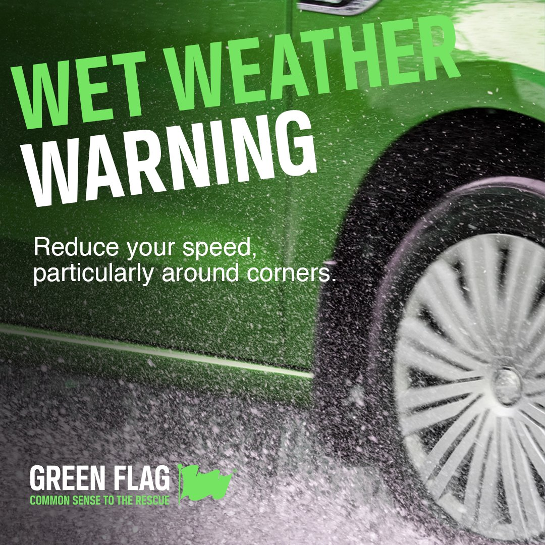 Green Flag On Twitter With Wind And Heavy Rain Affecting Driving