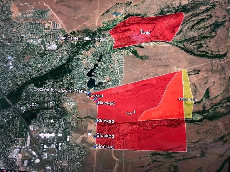 Chico Fire Department On Twitter Current Map Of Evacuation Zones