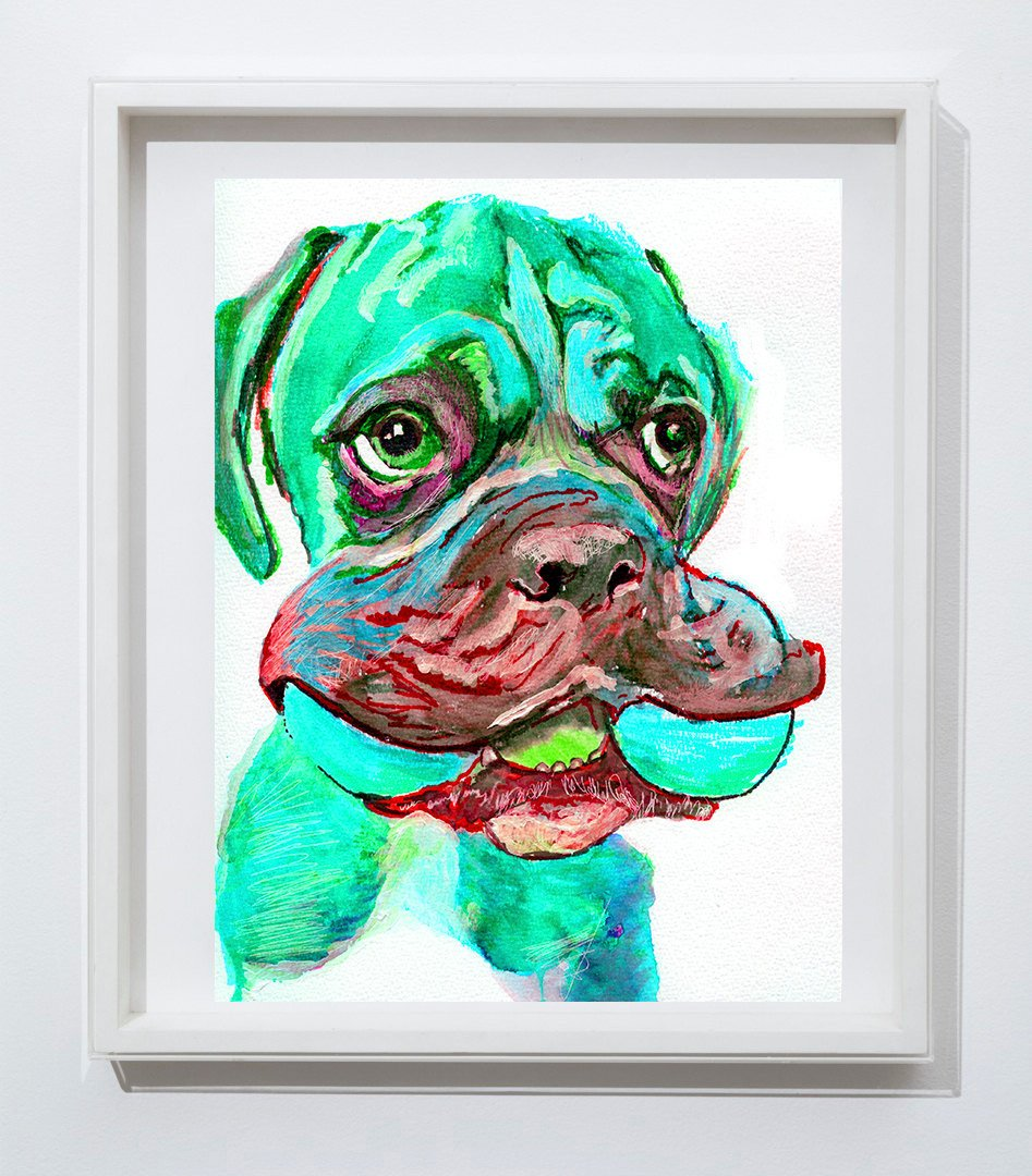 Oscar Jetson Artist On Twitter Boxer Dog Painting Abstract