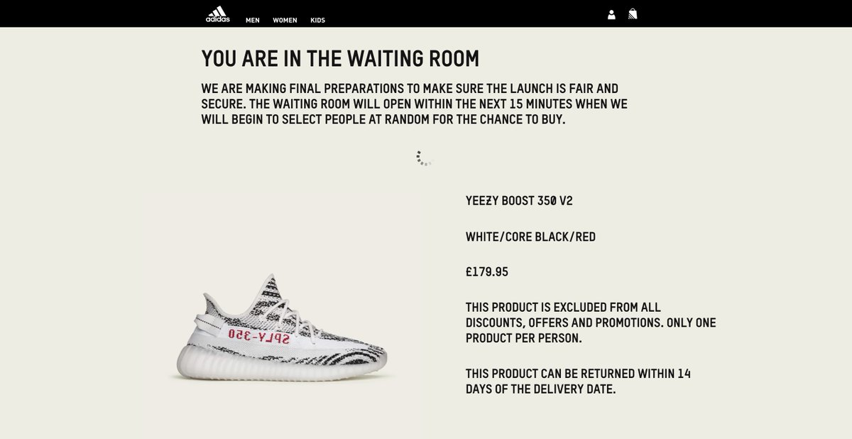 how to get through adidas waiting room