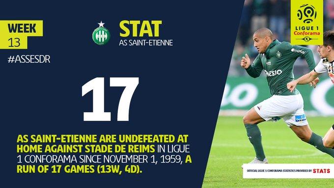 .@ASSEofficiel vs. @StadeDeReims #Ligue1Conforama ⚽️🇫🇷 #ASSESDR Photo