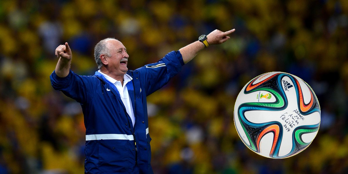 Happy 70th to Luiz Felipe Scolari, the fifth Brazilian manager to win the #WorldCup 🇧🇷🎉 In our collection we have an Adidas Brazuca ball which he signed at the 2014 World Cup! Have a great birthday, Felipão 🎂
